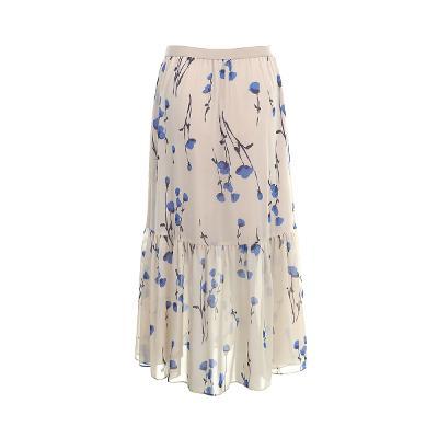 ruffle detail floral pattern skirt